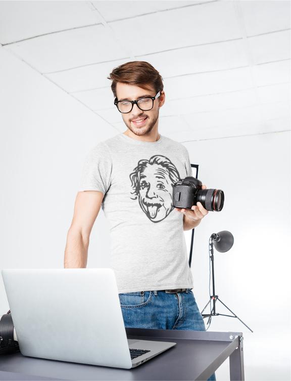 Albert Einstein T-Shirt - Bleh Face