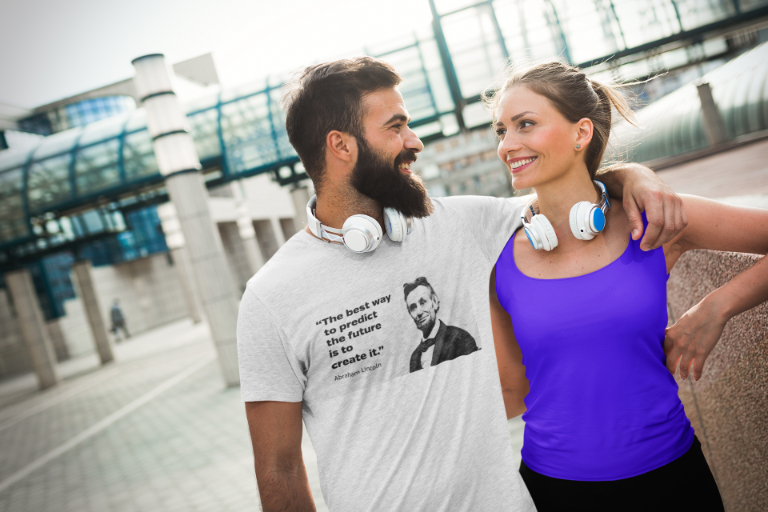 Abraham Lincoln T-Shirt - Quote: Create It
