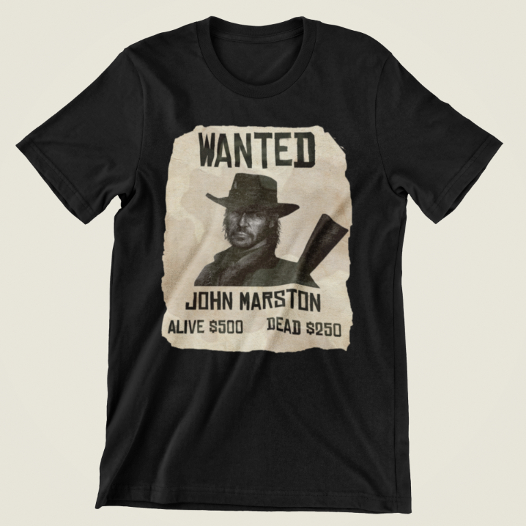 Red Dead Redemption T-Shirt - Wanted John Marston